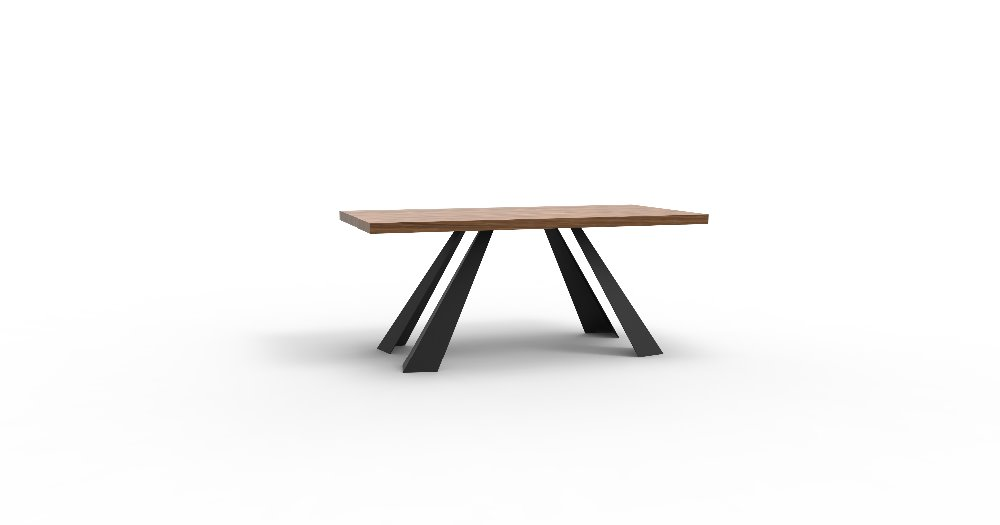 unique heavy duty metal dining table with wooden top