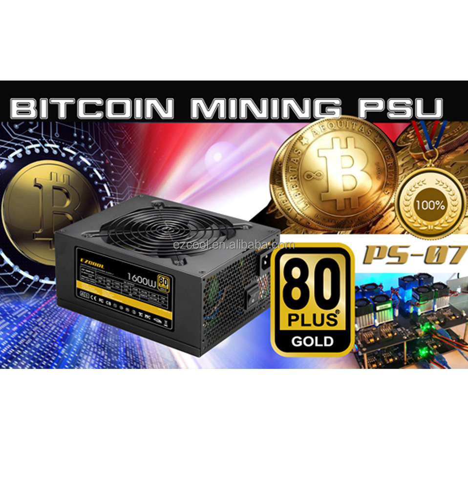 Bitcoin miner power supply 1600w 80plus power supply /eth mining/ mining rig bitcoin