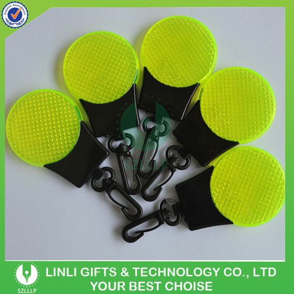 Portable Warning Safety Reflector Mini Lamp Refractive LED Light Keychain/Key Holder/Keyring