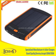 Best selling solar power bank 20000mah for laptop and smartphone , 20000mAh solar power bank charger to charge laptop