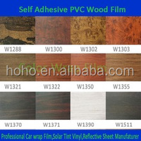 1.24x50m Wood grain vinyl films/self adhesive decorative paper for furniture