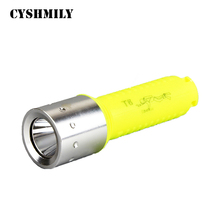 CYSHMILY T6 high ligh waterproof 1000 lumens bright rechargeable powerful underwater diving led flashlight