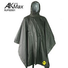 Military Olive Green Portable Poncho Army Raincoat/Ground Sheet