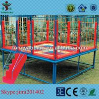 Mini fitness trampoline with handle