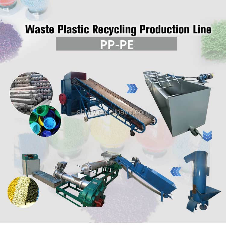 LDPE PP PE recycling plastic pelletizing machine with good price