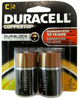 DURA CELL 2pcs Blister Card Pack 1.5V LR14 MN1400 Size C alkaline battery