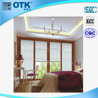 2015 newest hot selling sliding windows aluminum alloy blind inside double glass window