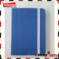elestic closure pu leather notebooks accept customized logo hard cover for diary and school use