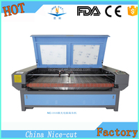 NC-F1810 Automatic Fine cutting edge right angle Co2 Fabric Laser Cutting Machine Price