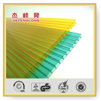 JIEFENGLONG 4mm/5mm/6mm/8mm/10mm Double Wall Polycarbonate Sheet price Building Materials