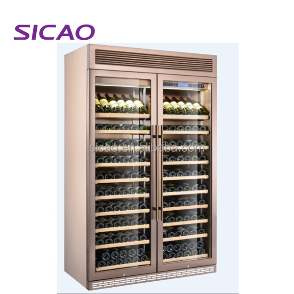 Double doors Custom design compressor wine cellar