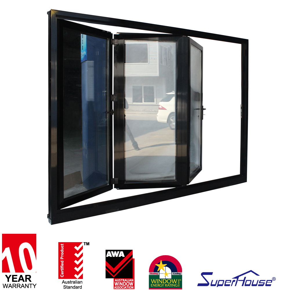 exterior bi fold black glass doors wholesale commercial safety glass window and door