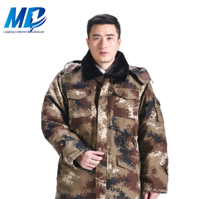 Polyester Cotton Warm Protective Winter Camouflage Workwear Jacket