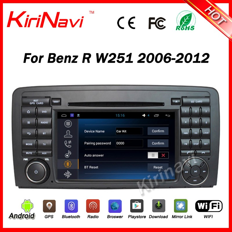 Kirinavi WC-MB7510 android 5.1 car navigation for Mercedes for benz R Class W251 R280 R300 R320 R350 R500 2006-2012 multimedia