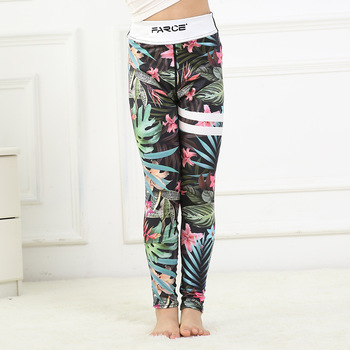 New design  children's digital printing quick-drying breathable yoga pants