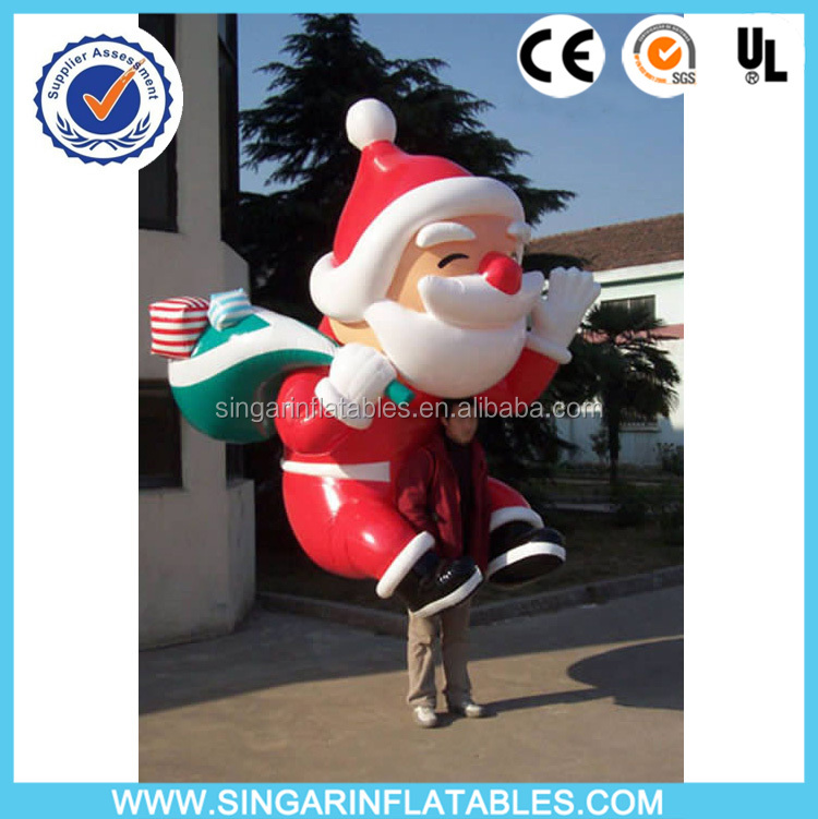 inflatable santa claus backpack,inflatable christmas mascot