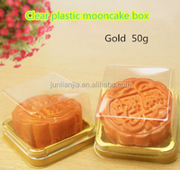 Hot sale clear plastic gold base mooncake tray