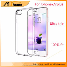 Wholesale High Quality Electroplate gold TPU Soft Case For iphone7 7plus Ultra Thin Case