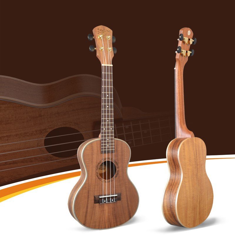 Deviser music instrument koa ukulele UK26-90 Tenor electric thin ukulele