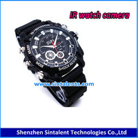 White 1080P Full HD Digital Waterproof IR Watch Camera Camera