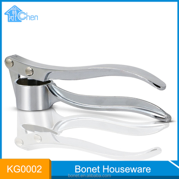 KG0002 FDA/LFGB New item garlic press stainless steel