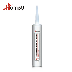 Homey 977 high elasticity strong adhesive acetic silicon sealant for aquarium tank acp