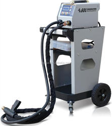Spot welding machine with dent puller for auto spotter