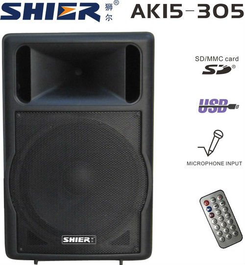 SHIER AK15-305 usb mp3 portable cellphone megaphone speaker