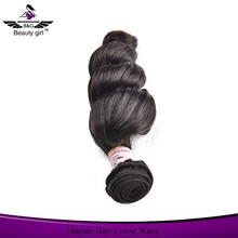 New arrival machine weft unprocessed loose wave brailian remy hair cheap virgin hair
