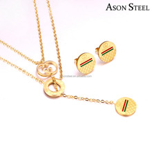 Latest Model Fashion Gold Plated Italian Luxury Brand Imitation Jewellery Two Chain Link Necklace