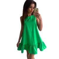 Vestidos Women Dress Summer Sleeveless Casual Line Bodycon Dresses Party Cocktail Short Mini Tube Beach Dress