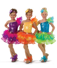 2017 New !! MBQ966 child sequin lycra stage performance competition ballet tulle dance costume tutu dress