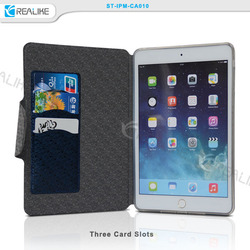 Latest products convenient design stand leather case for ipad mini