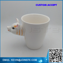 3D Three-Dimensional Pure Hand-Painted Mugs Lunar New Year Series Ceramic Cup Creative Personalized Gifts pig 301-400ml