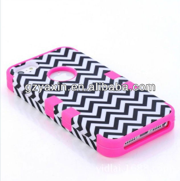 Combo case for iphone 5c,wholesale Printing Silicon+PC Combos Case for iPhone5C