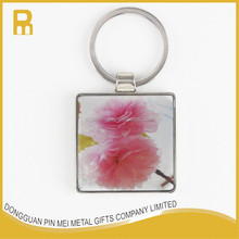 Epoxy resin painted key chain with custom company logo