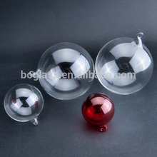 hand blown clear hanging glass ball with hook
