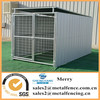 6'X12' shed row style galvanized steel tubing dog kennel with roof shelter and 1dog runs