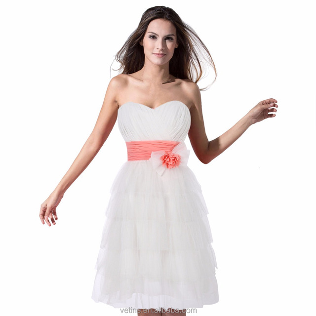 cocktail low price homecoming bridesmaid casual sweetheart strapless short dress