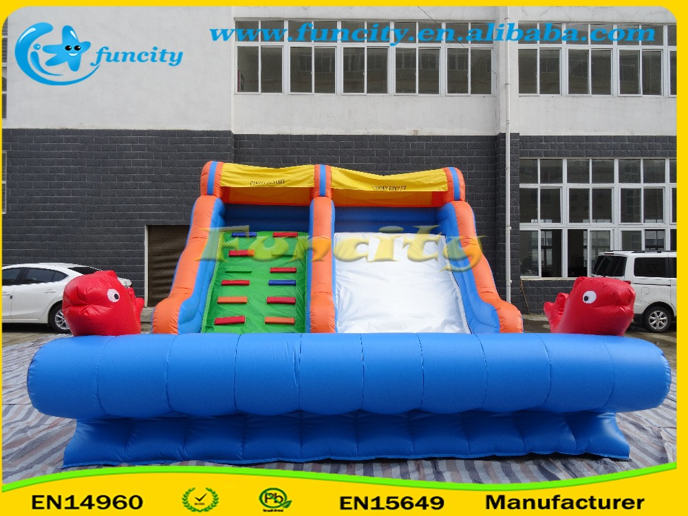 Gaint Double Inflatable Slide, Bouncer Slide Games And Have Fun