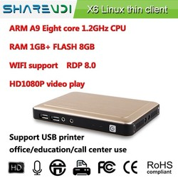 RDP client thin pc octa core X6 for school lab fast & stable