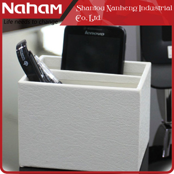 NAHAM Elegant Office Decor Stationery Two Compartments Pen Holder