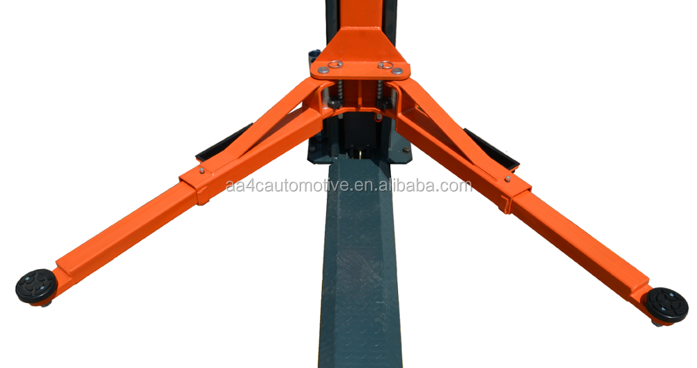 Overhead 8 fold profile column 4.5T dual points manual release hydraulic 2 post car lift