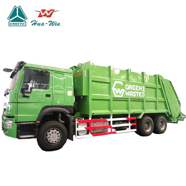 SINOTRUK compactor garbage truck 24cbm dustcart heavy duty bin wagon bin lorry