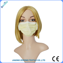 Disposable 3py nonwoven yellow dust mask for laboratory and clinc