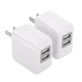 New Arrival  2 USB Portable Power Adapter, Universal Plug Travel Wall Charger Station For Mobile