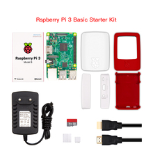 Wholesale Raspberry Pi 3 Model B Starter Kit With Raspberry Pi Box Case Red White / 16G Sd Card / 5V 3A Usb Charger / USB Cable