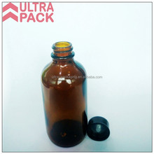 4oz 120ml amber boston round bottle Homemade Cleaning Solution Glass Spray Bottle with Black Power Trigger Sprayer
