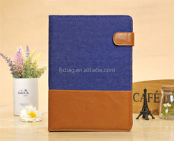 Luxury leather flip contrast color smart cover case for ipad mini 1 2 3