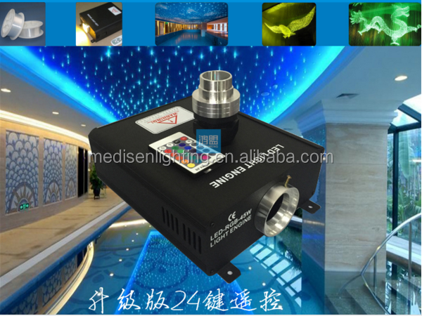 DMX system 16w 45w led fiber optic engine with remote controller